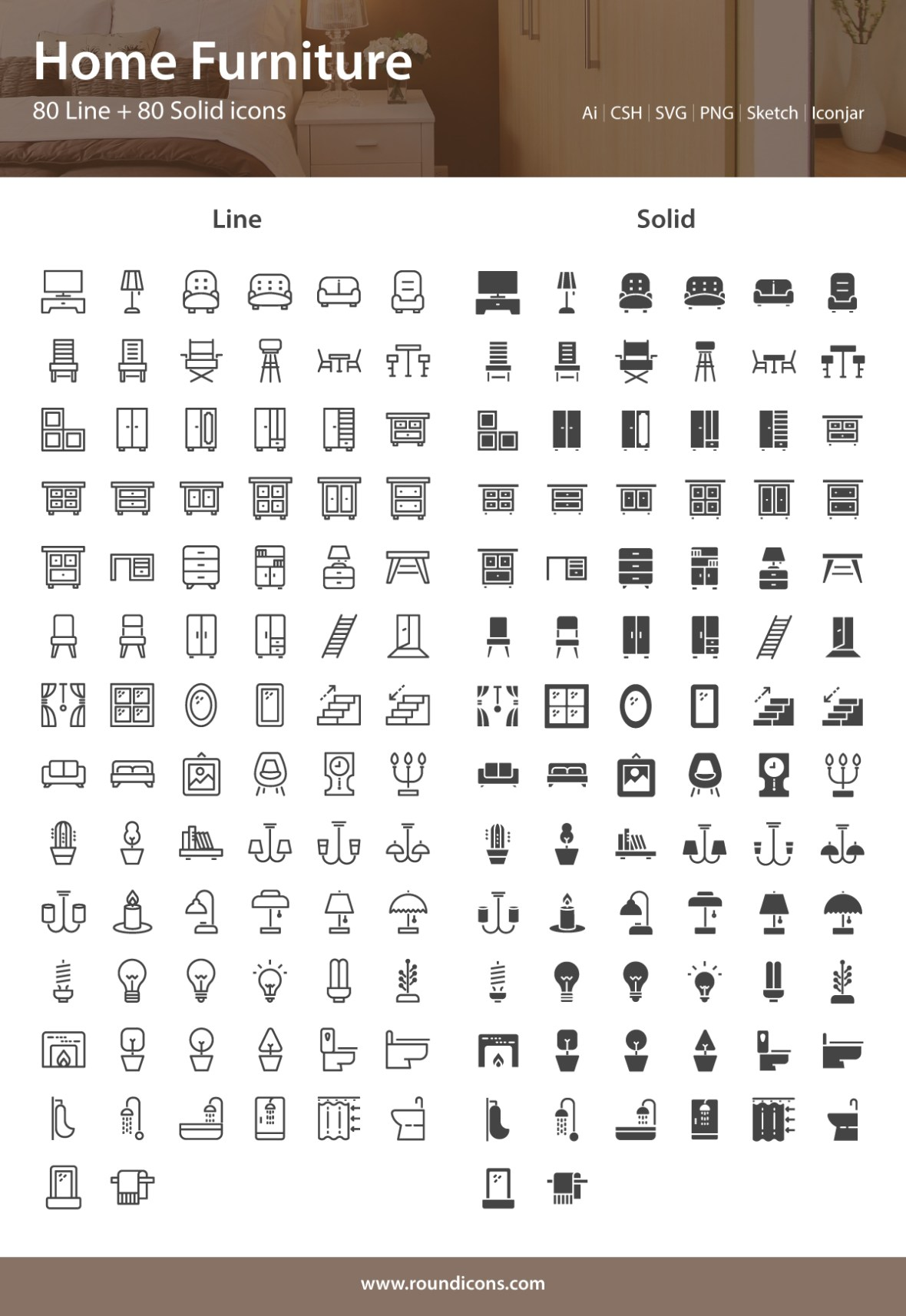Free Home Furniture Icons