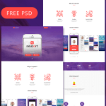 Free PSD – Neuzort Landing Page Template