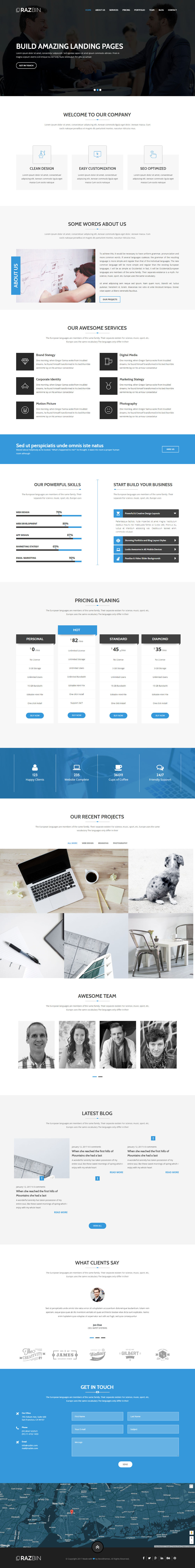 Razbin - Digital Agency Web Template