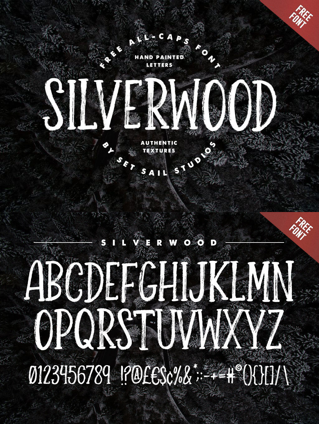 Free Silverwood Brush Font