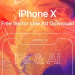 iPhone X – Free Vector Line Art (AI, PSD)