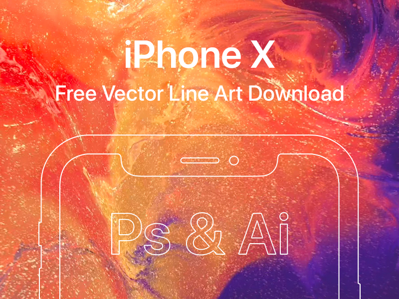 iPhone X - Free Vector Line Art