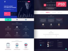Free PSD Creative Website Design