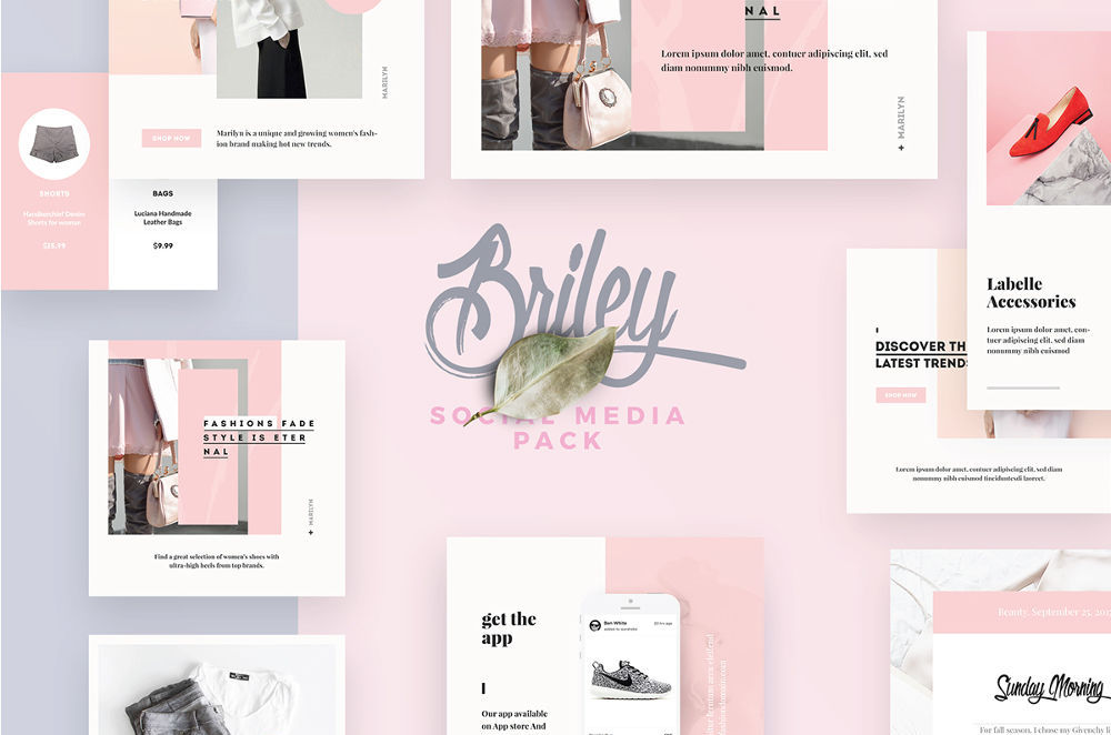 Briley - Free Social Media Pack