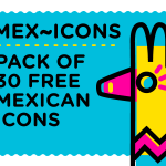 Mex~icons Icon Design (30 Icons, PNG, EPS, AI)