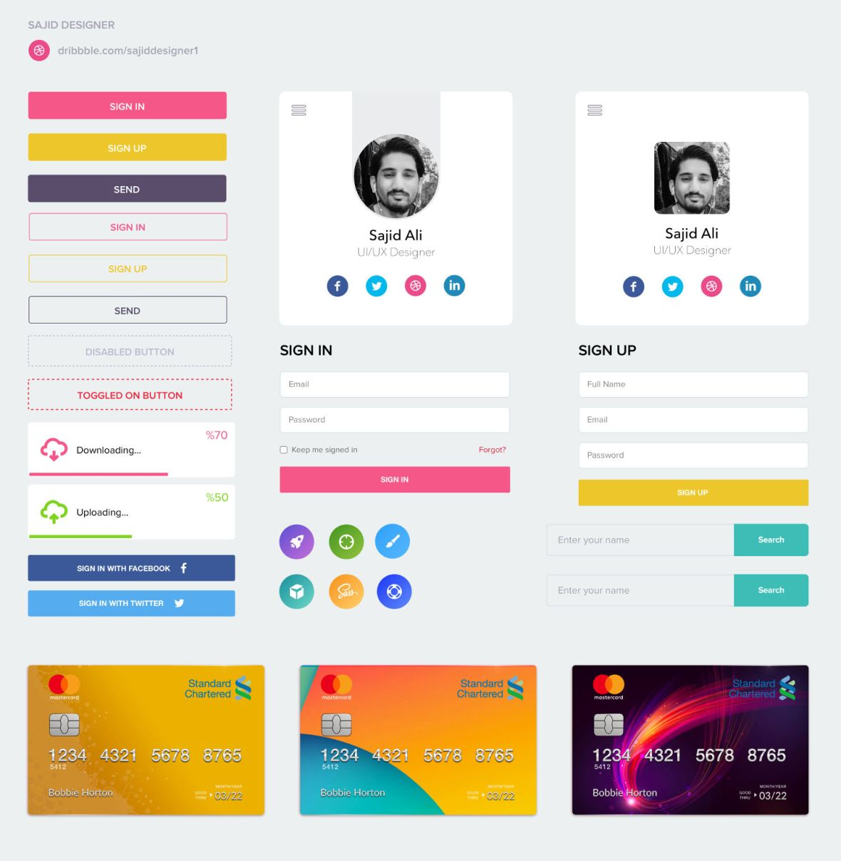 mobile and web ui kit sketch omahpsd