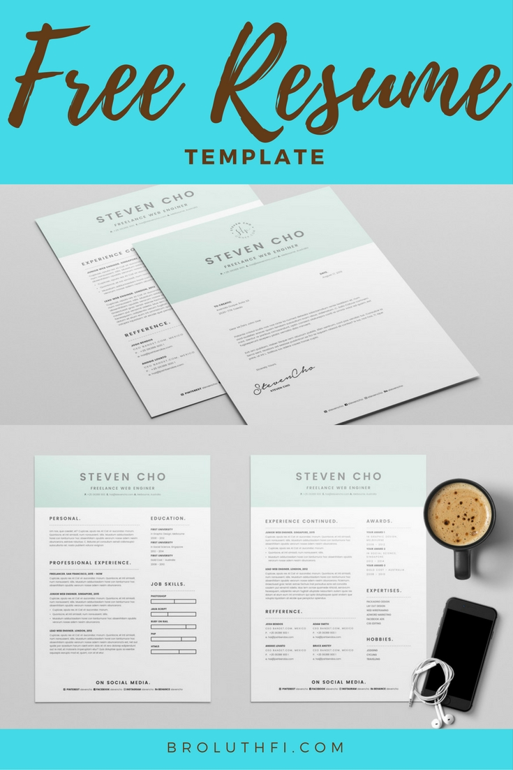 Free Minimalist Resume and Cover Letter