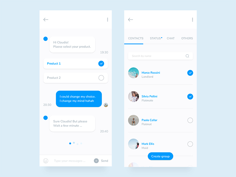 Free Mobile Chat App Design