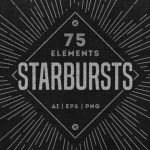 Retro Starburst Collection (75 Elements, AI, EPS, PNG)