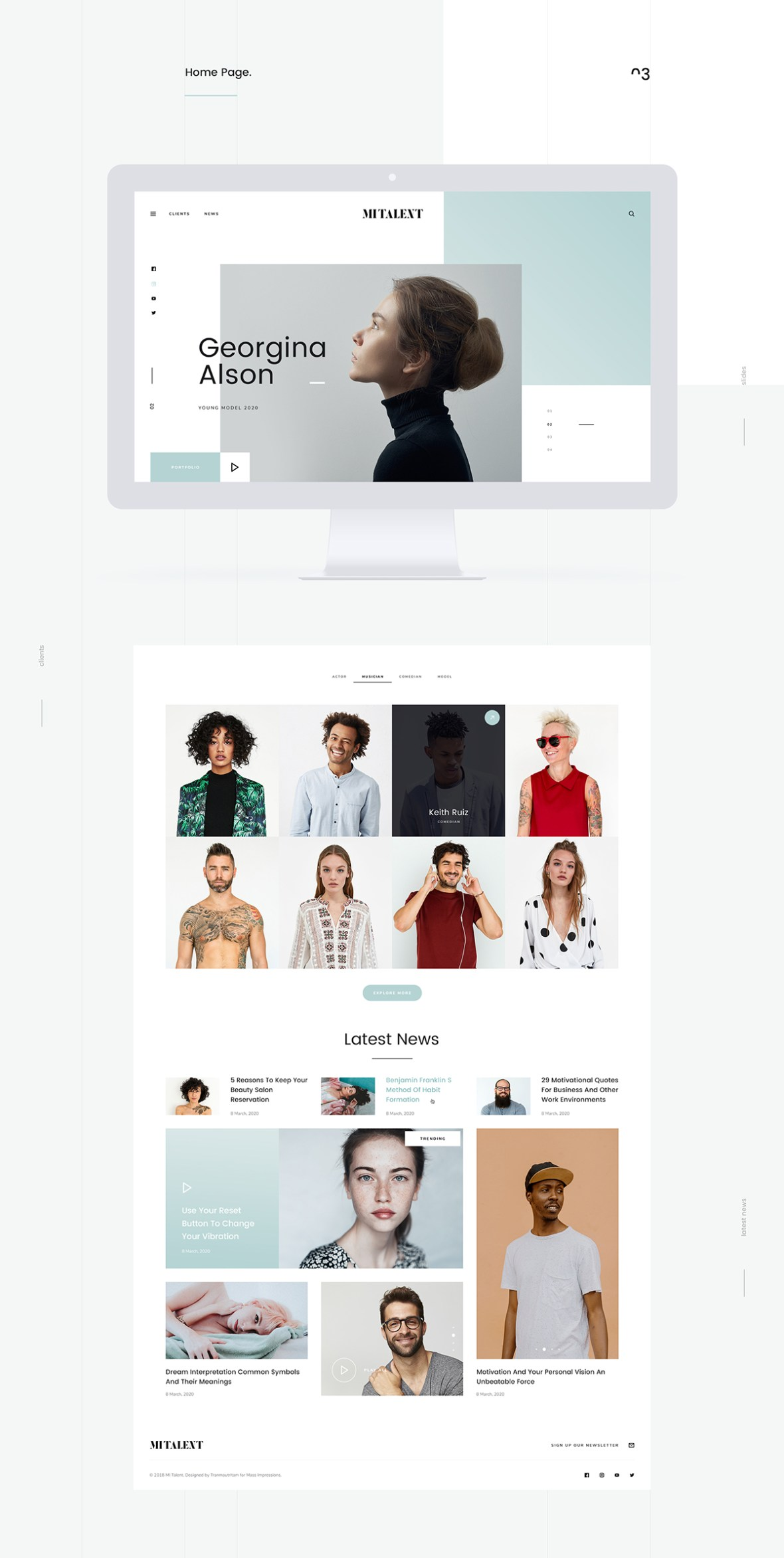 MITalent Free Website Template