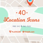 The Free Location Icon Set (40 Icons, SVG, PNG)