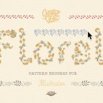 Free Floral Pattern Brushes (AI, EPS, SVG, PNG)