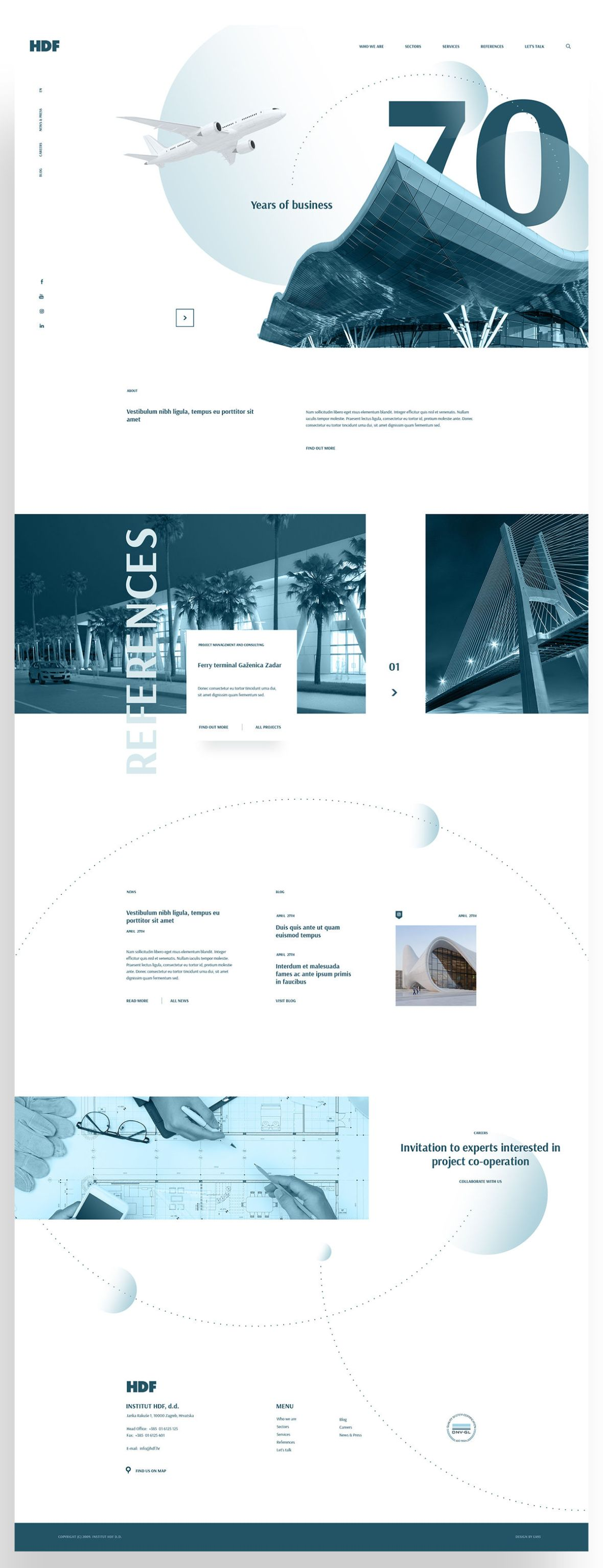 Free PSD Template - Architecture and Consulting Website