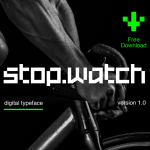 Stopwatch Free Typeface