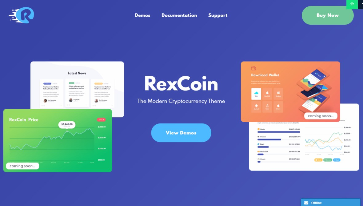 RexCoin WordPress Theme