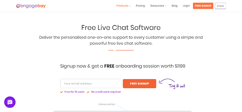 EngageBay Live Chat Software