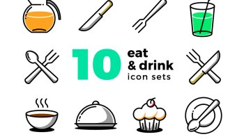 Eat and Drink Icon Set Freebie