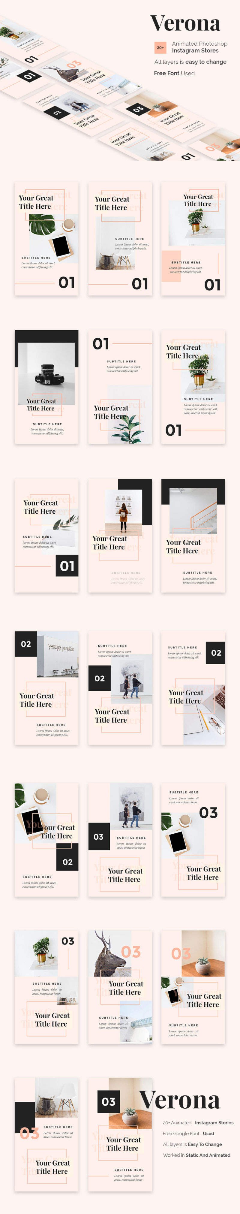 Verona Free Animated Instagram Story Templates