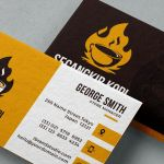 Hot Coffee Business Card Template (2 Styles, PSD)