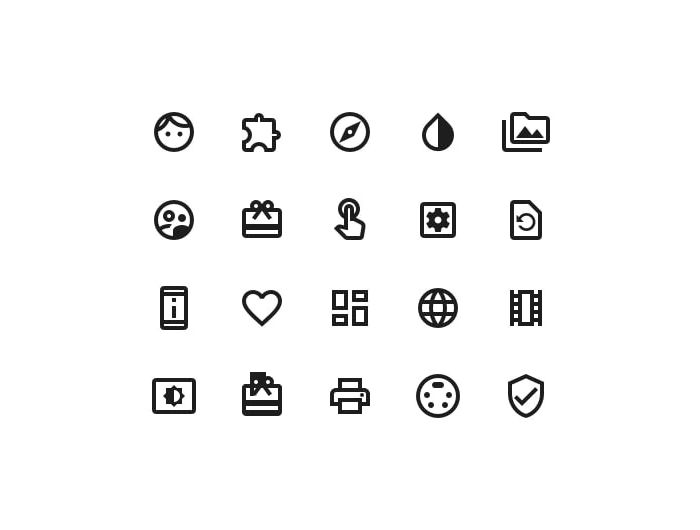 Material Icons Library Freebie Outlined Style Preview