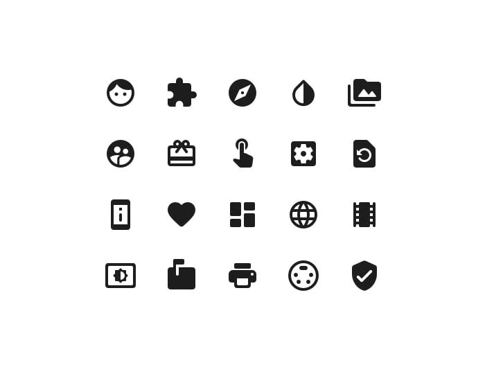 Material Icons Library Freebie Rounded Style Preview