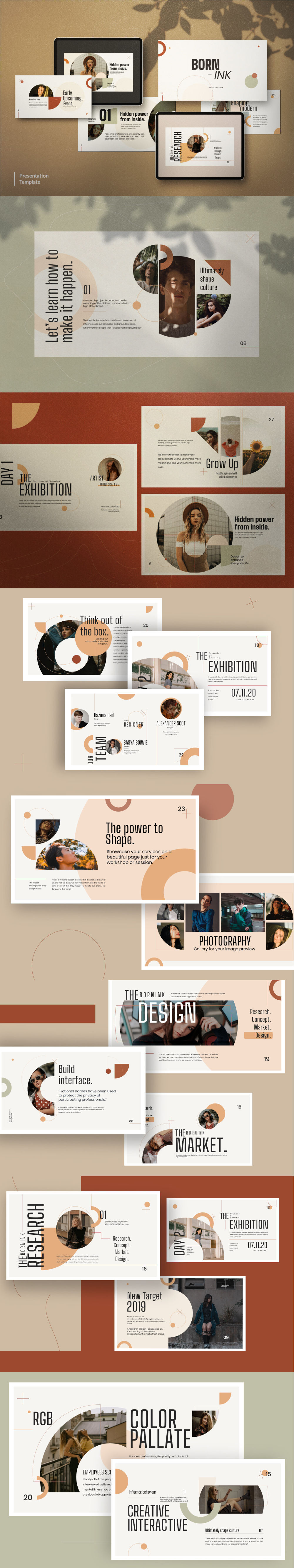 Born Ink Free Presentation Template preview
