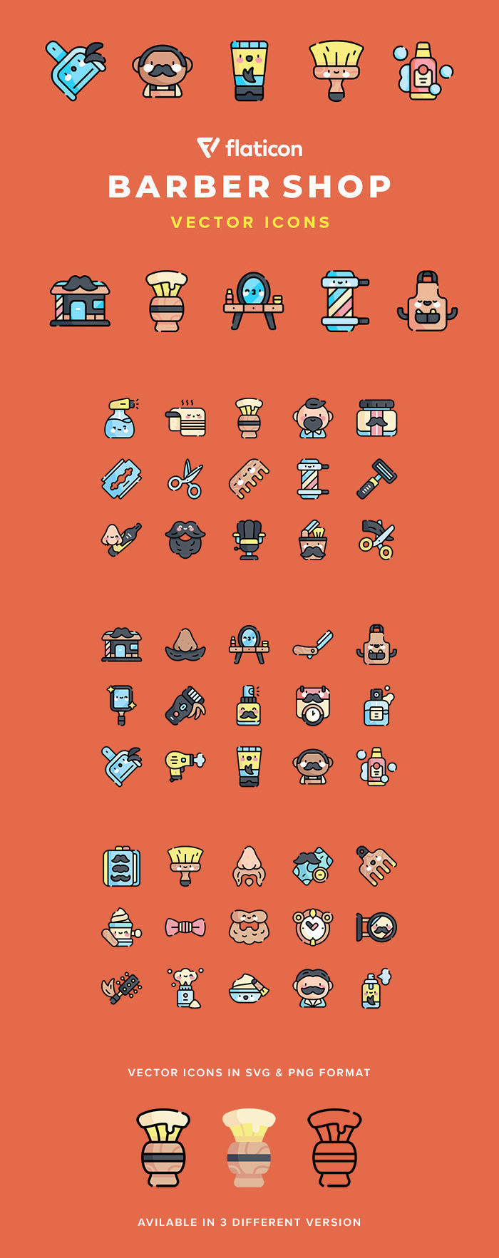 Free Barbershop Vector Icons preview