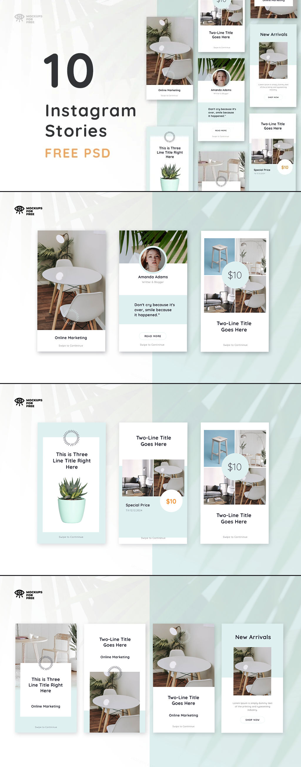 Free Insta Stories PSD Template Preview