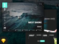 GoSurf Free Website Template (Sketch)