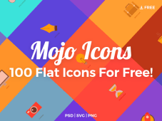 Mojo Icons - 100 Free Flat Icons (PSD, SVG, PNG)
