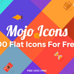 Mojo Icons – 100 Free Flat Icons (PSD, SVG, PNG)