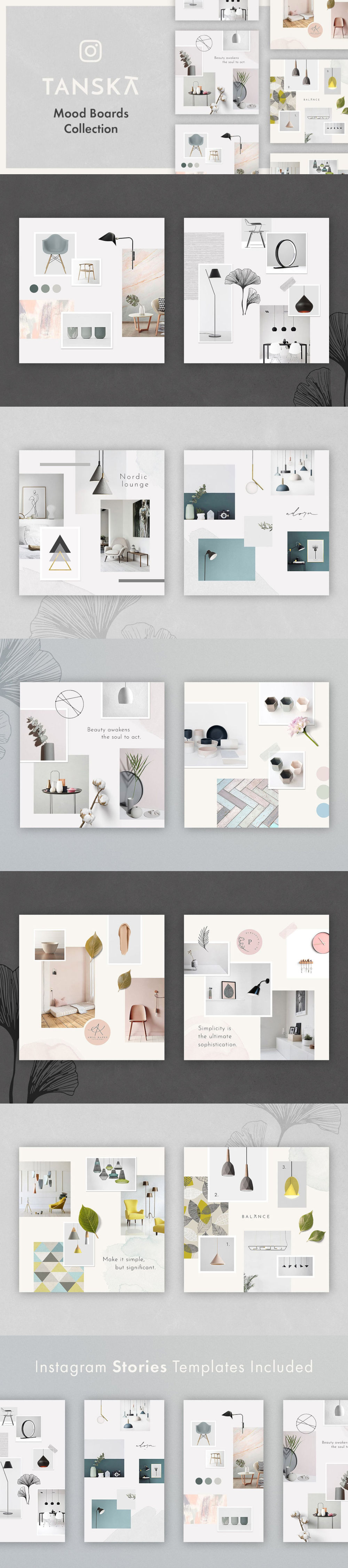 Tanska free instagram moodboard collection preview