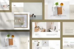 Aesthetic PowerPoint Template - Free Demo