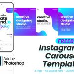 Free Instagram Carousel Template (5 Slides, PSD)
