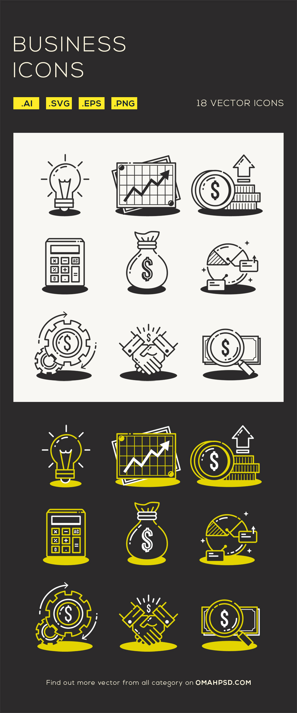 Free Business Vector Icons Preview
