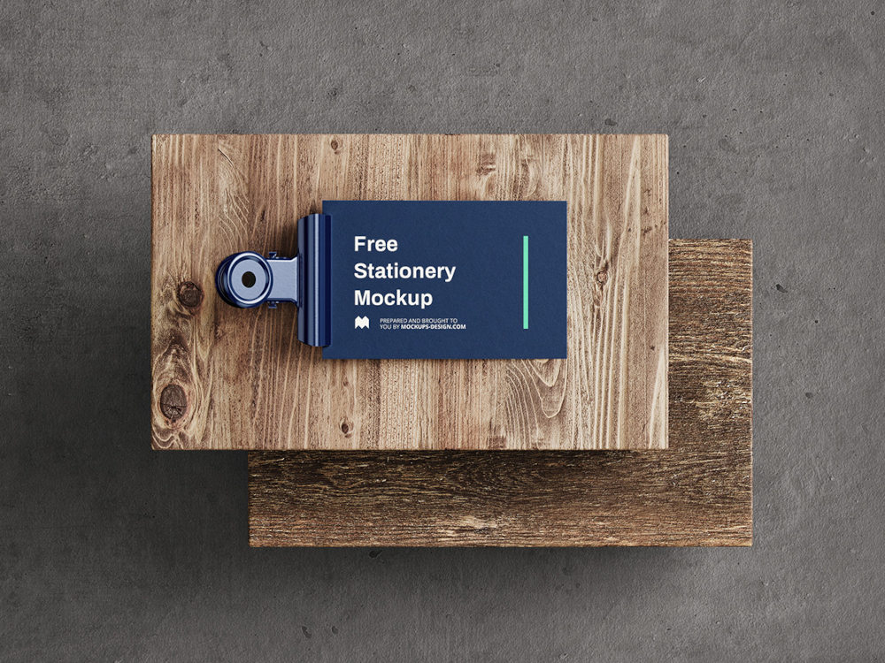 Free Stationery Mockup Preview Angle 3