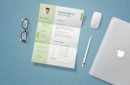 Free CV/Resume Template & Mockup (PSD)