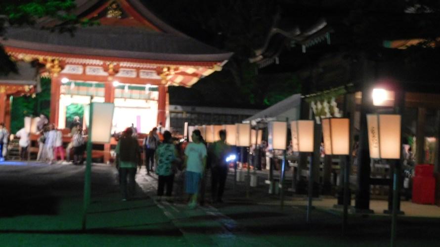 鶴岡八幡宮~ぼんぼり祭り2018年~有名人献納ぼんぼり集