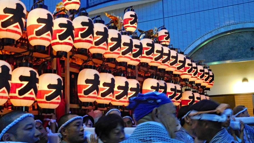 鎌倉大町・八雲神社~例大祭(大町まつり)2019年~(3)神輿夜まつり・神輿振