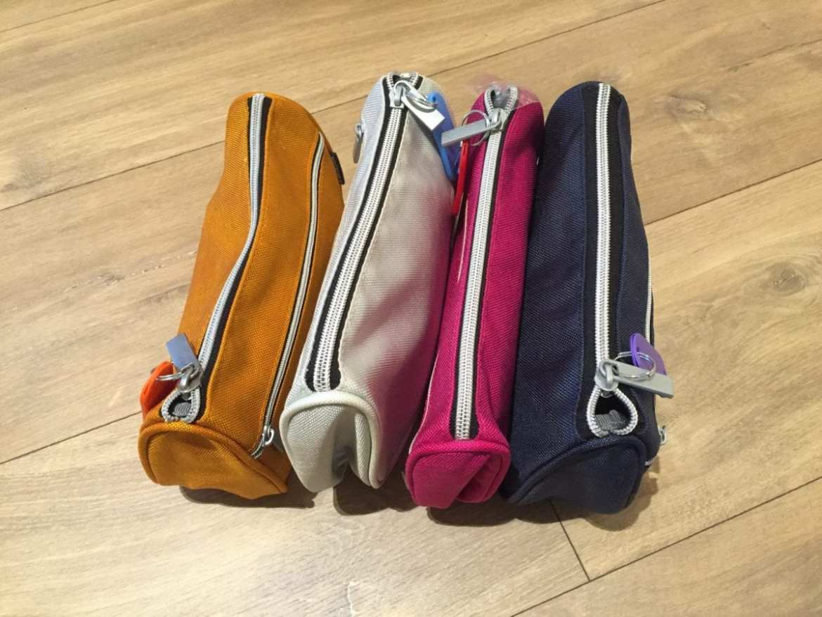 Color-coded toilet bags