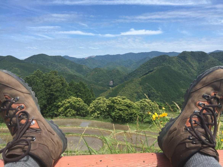 Kumano Kodo Lookout on Day 1