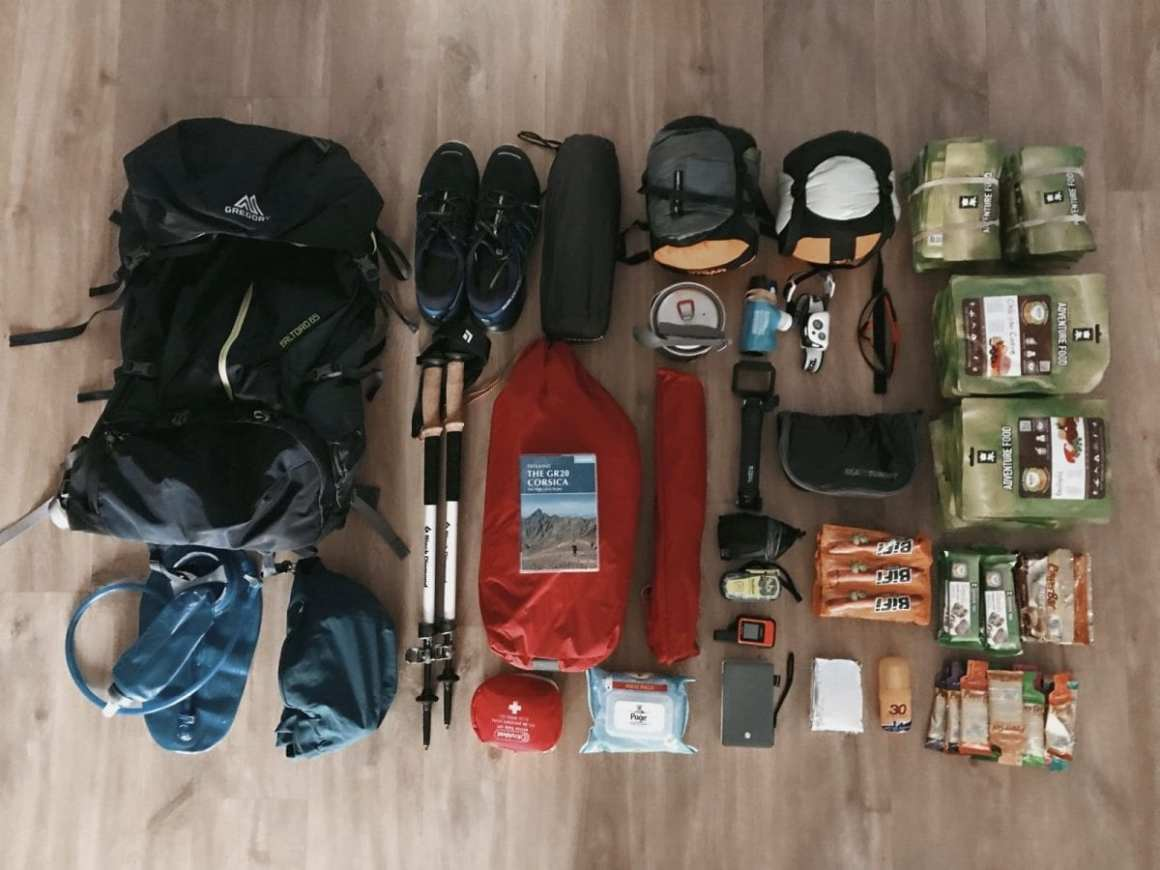 Gear for GR20 in Corsica (France)