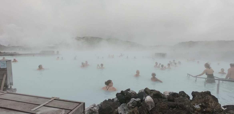 Blue Lagoon near Reykjavik in Iceland