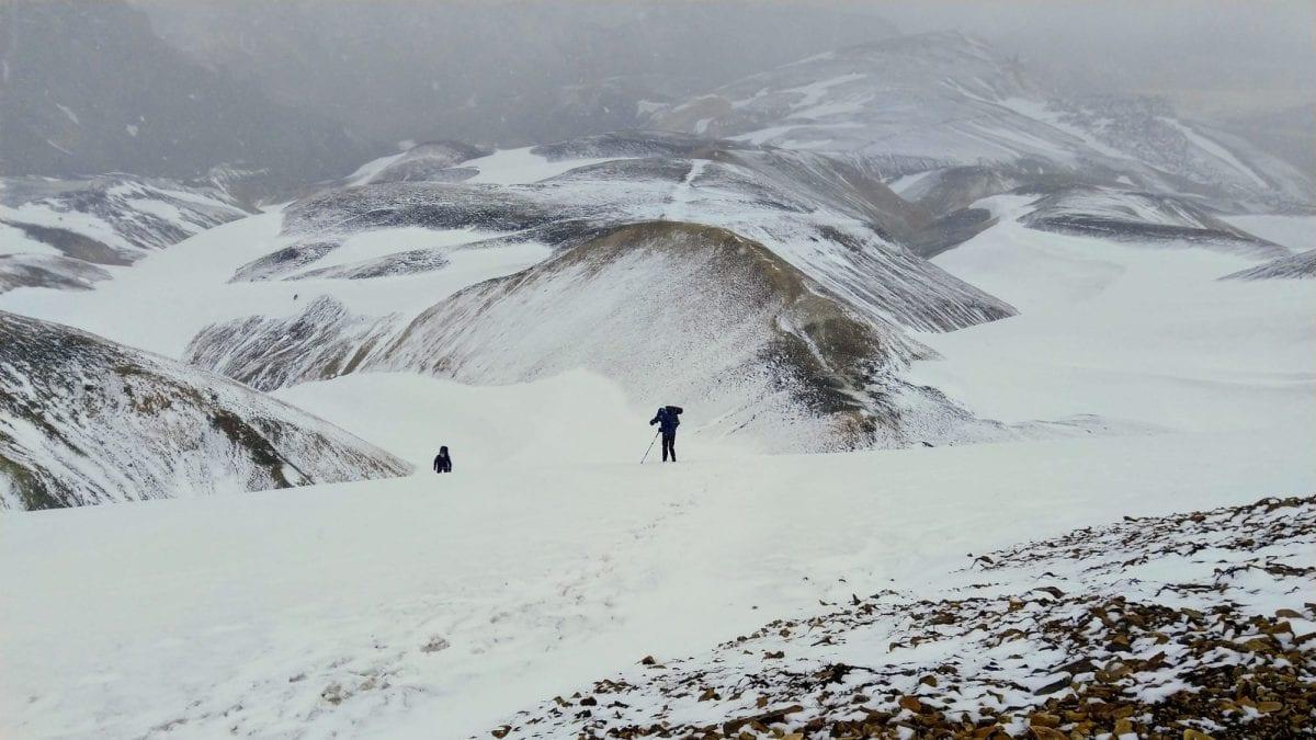 Laugavegur trail in the snow