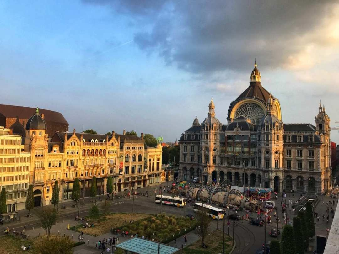 Indigo Antwerp City Centre: view from the balcony