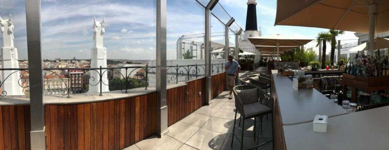 Radio rooftop bar on top of ME Madrid Reina Victoria