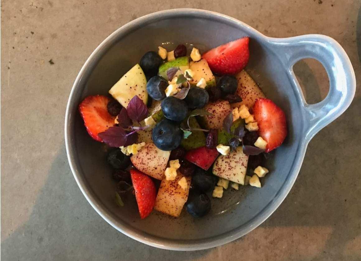 Fruit bowl for breakfast at QO Amsterdam