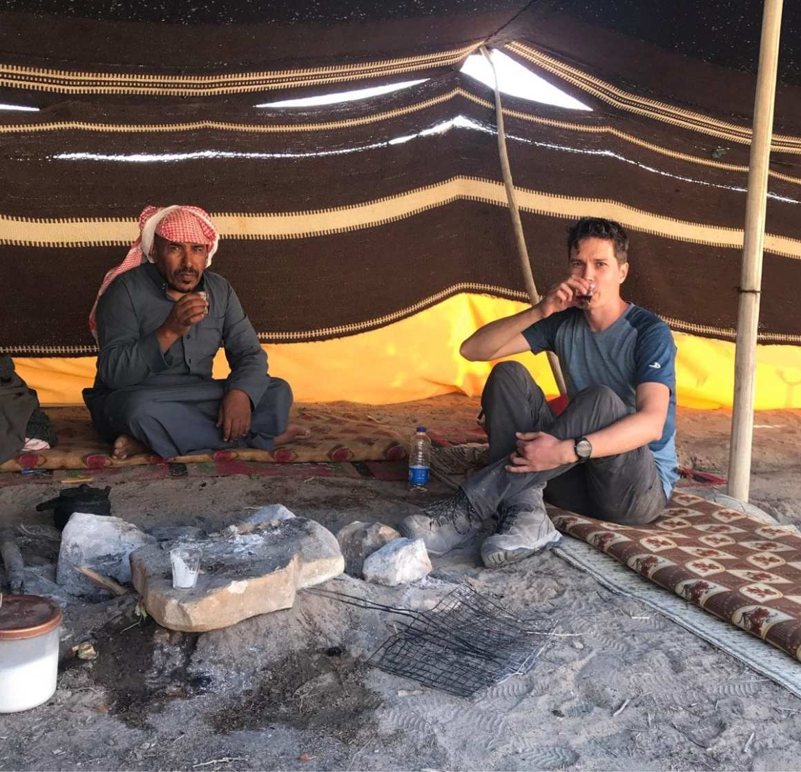 Jordan Trail - tea with Faris