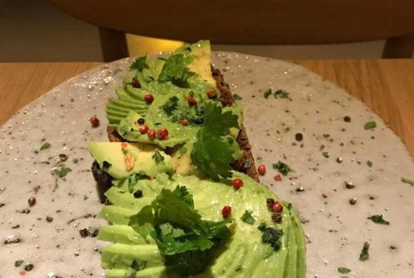 Avocado toast at One Shot Fortuny in Madrid