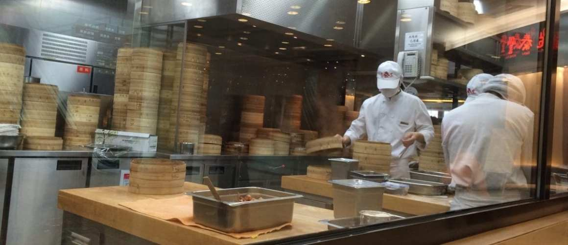 Din Tai Fung awesomeness in the making in Shanghai
